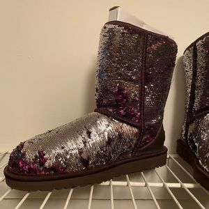 Sequin purple uggs